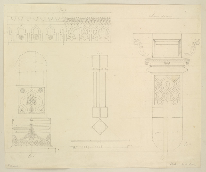'Plate.15. Misc Series. Chanderi.' Architectural details